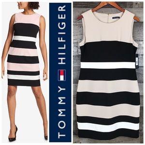 Tommy Hilfiger Colorblock Sheath Dress Sz 12